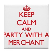 Keep Calm and Party With a Merchant Tile Coaster