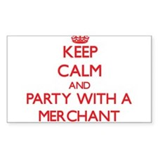Keep Calm and Party With a Merchant Decal