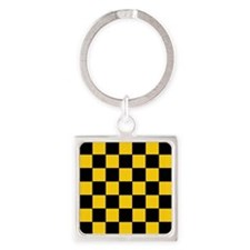 Checkered Pattern Keychains