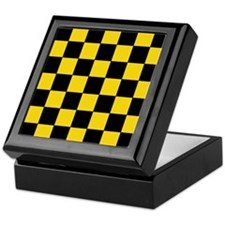 Checkered Pattern Keepsake Box