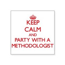 Keep Calm and Party With a Methodologist Sticker