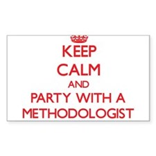 Keep Calm and Party With a Methodologist Decal