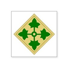 4th Infantry Division (1) Rectangle Sticker