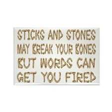 Sticks And Stones Rectangle Magnet
