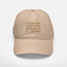 Sticks And Stones Baseball Baseball Cap