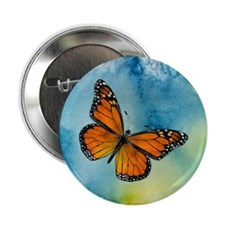 """Monarch Butterfly 2.25&Quot; 2.25"""" Button"""