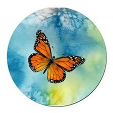 Monarch Butterfly Round Round Car Magnet