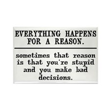 Everything Happens For Rectangle Magnet (10 pack)