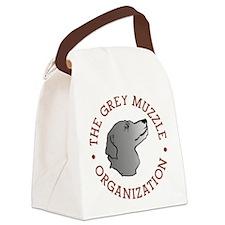 Unique Grey Canvas Lunch Bag