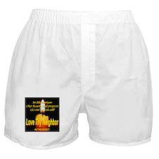 In Memorium Love Thy Neighbor Boxer Shorts