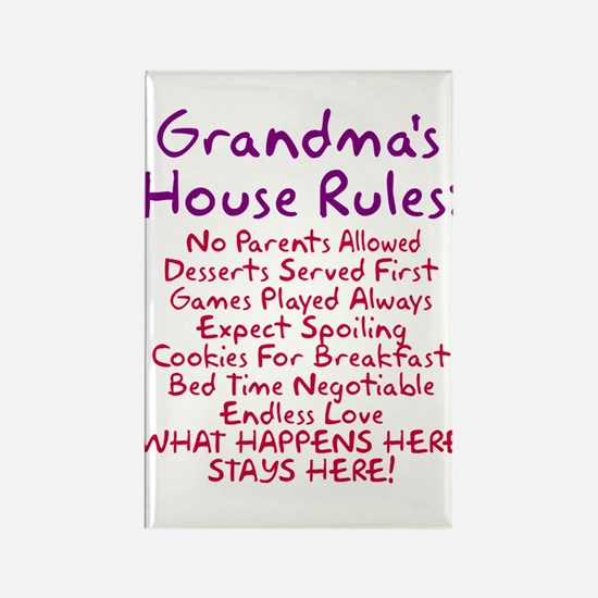 Grandma's House Rules Rectangle Magnet