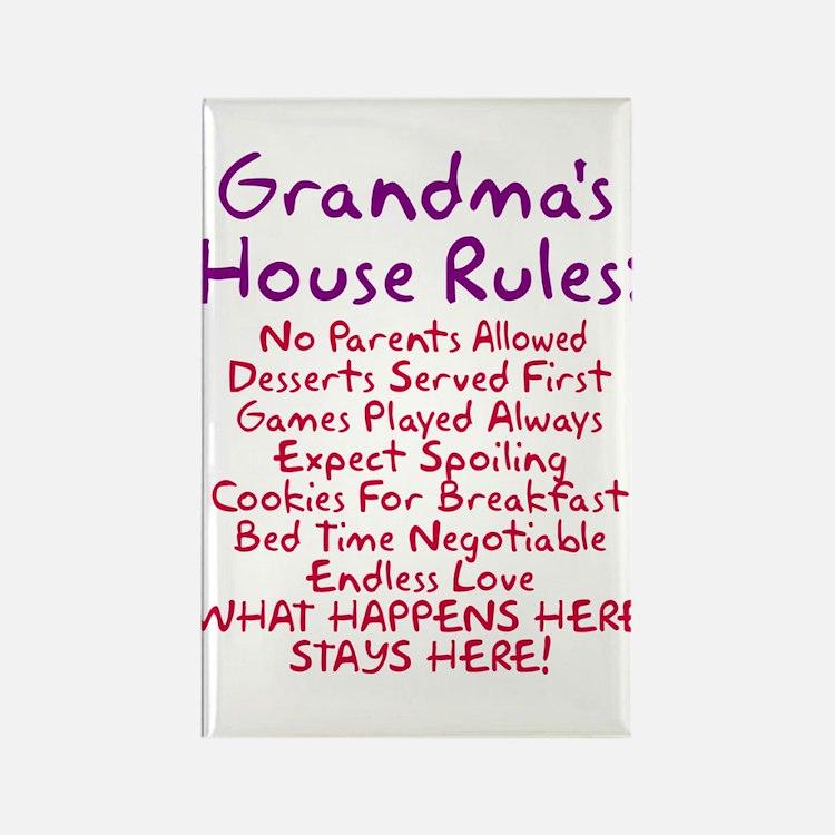 Grandma's House Rules Rectangle Magnet
