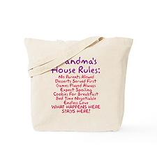 Grandma's House Rules Tote Bag
