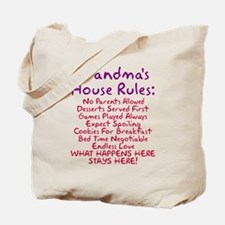 Grandma's House Rules Tote Bag