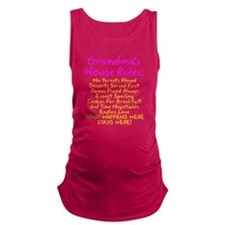Grandma's House Rules Maternity Tank Top