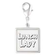 Lunch_Lady_02.Png Charms Silver Square Charm