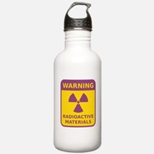 Radioactive Materials Warning Sign Water Bottle
