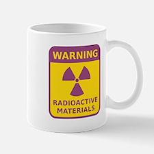 Radioactive Materials Warning Sign Mugs