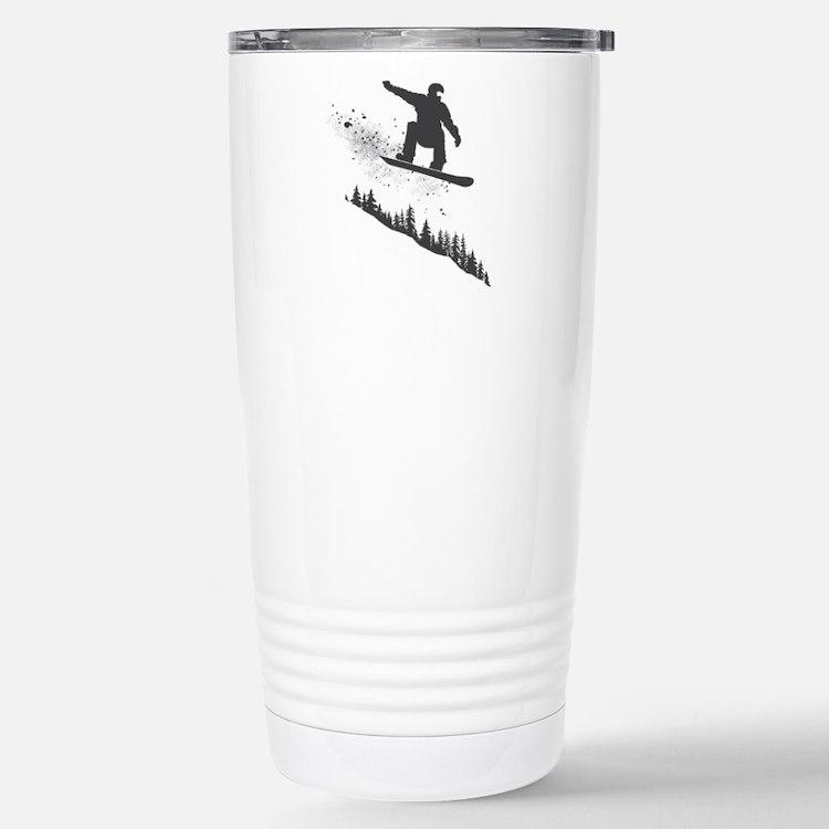 Snowboarder Stainless Steel Travel Mug