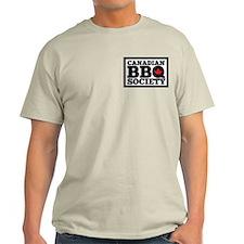 Canadian Bbq Society - Black Text Li T-Shirt