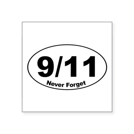 9/11 Never Forget Oval Sticker