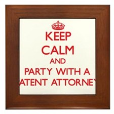 Keep Calm and Party With a Patent Attorney Framed