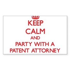 Keep Calm and Party With a Patent Attorney Decal