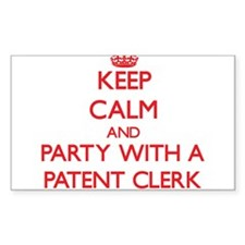 Keep Calm and Party With a Patent Clerk Decal