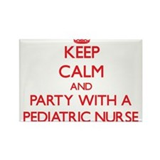 Keep Calm and Party With a Pediatric Nurse Magnets
