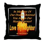 In Memory Of Our Dearly Belov Throw Pillow
