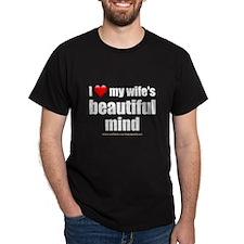 """Love Wife's Beautiful Mind"" T-Shirt"