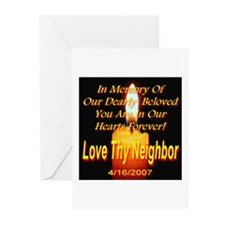 In Memory Of Our Dearly Belov Greeting Cards (Pack