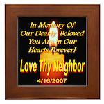 In Memory Of Our Dearly Belov Framed Tile