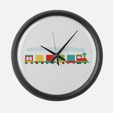 Toy Train Large Wall Clock
