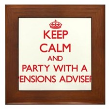 Keep Calm and Party With a Pensions Adviser Framed