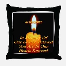 4/16/2007 Eternal Candle Flam Throw Pillow