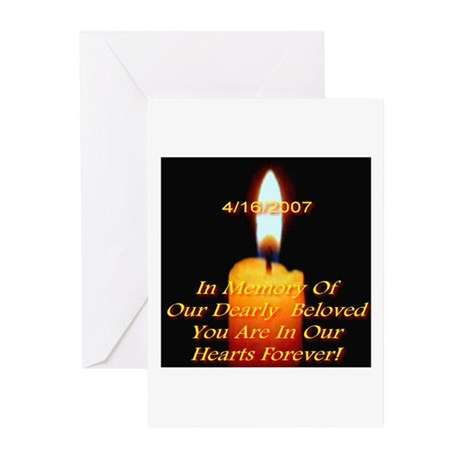 4/16/2007 Eternal Candle Flam Greeting Cards (Pack