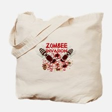 Invasion Of The Zombees Tote Bag