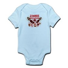 Invasion Of The Zombees Infant Bodysuit