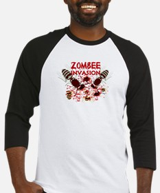 Invasion Of The Zombees Baseball Jersey