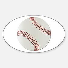 Baseball Ball - No Txt Sticker (Oval)
