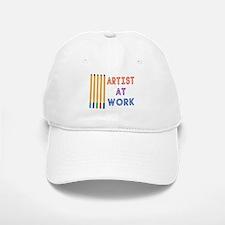 Artist At Work Oil Pastels Baseball Baseball Cap