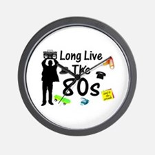 Long Live The 80s Culture Wall Clock