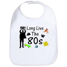 Long Live The 80s Culture Bib
