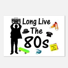 Long Live The 80s Culture Postcards (Package of 8)
