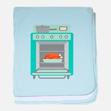 Turkey Cooking Oven baby blanket