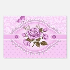 Dramatic  Rose and Butter Postcards (Package of 8)