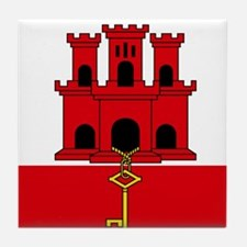 Flag of Gibraltar Tile Coaster