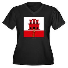 Flag of Gibraltar Plus Size T-Shirt