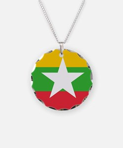 Flag of Myanmar Necklace